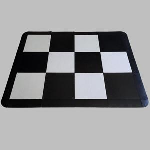 Vinyl Black and White Dance Floor
