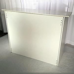 White Folding Bar